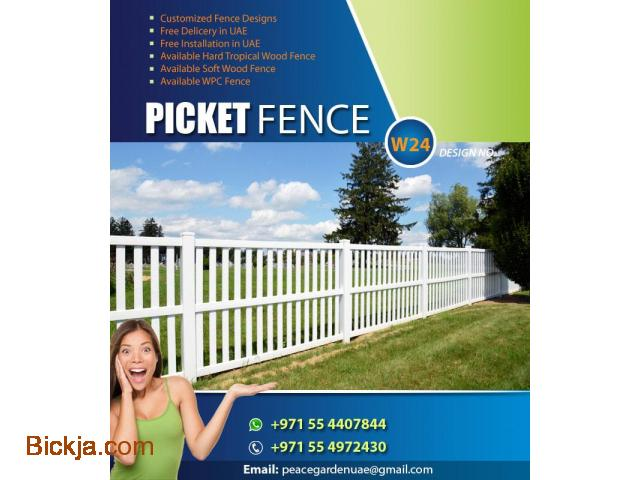 Picket Fence Dubai | Wooden fence Sharjah | garden fence Suppliers And Install in Uae - 1/4