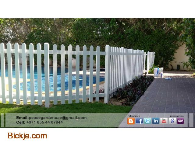 Picket Fence Dubai | Wooden fence Sharjah | garden fence Suppliers And Install in Uae - 2/4