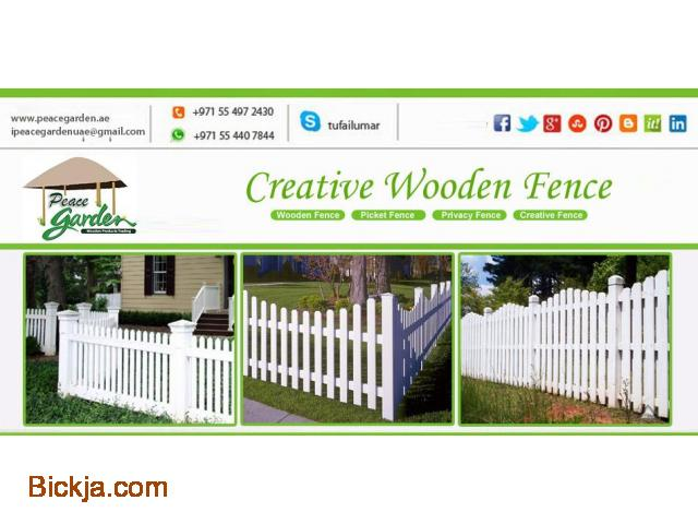 Picket Fence Dubai | Wooden fence Sharjah | garden fence Suppliers And Install in Uae - 3/4