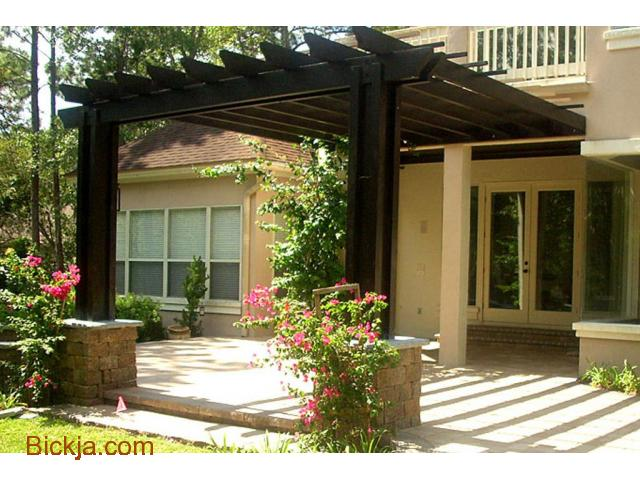 Manufacturing And Install Wooden Items | Creative Pergola | House And Balcony Attached pergola - 1/1