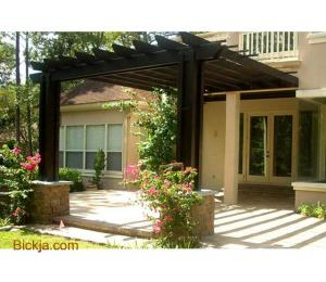 Manufacturing And Install Wooden Items | Creative Pergola | House And Balcony Attached pergola