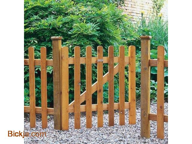 Wooden gates And fence | picket fence Abu Dhabi | Creative Fences manufacturer In uae - 3/4