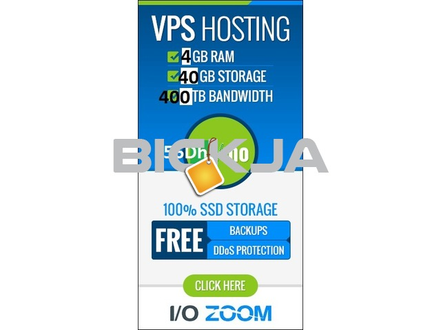 Linux VPS Hosting 4GB RAM 40 SSD 56 AED Per Month - 1/1