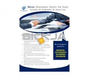 Special professional service for trade licenses & companies Dubai-UAE