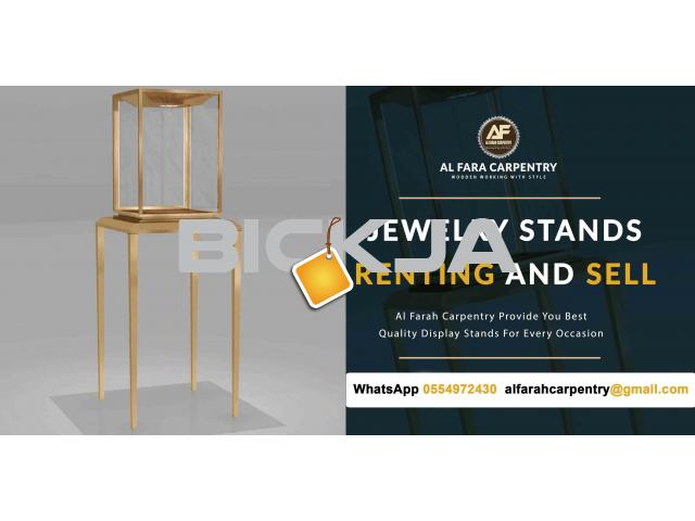 Wooden Display Stands For rent | Jewelry Display Stands For Renting Dubai | Rental Display Stands - 2/4
