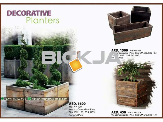 Wooden Planters Manufacturer In Dubai | Wooden Container For Plant | Wooden Planters Abu Dhabi - 2/4