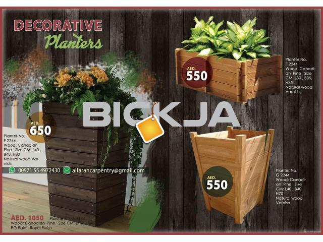 Wooden Planters Manufacturer In Dubai | Wooden Container For Plant | Wooden Planters Abu Dhabi - 3/4