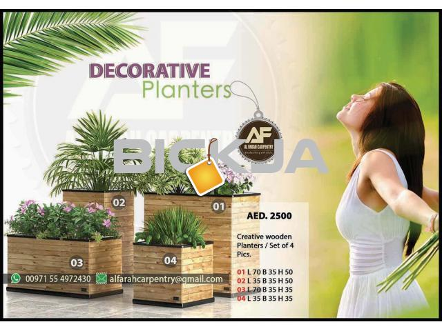 Wooden Planters Manufacturer In Dubai | Wooden Container For Plant | Wooden Planters Abu Dhabi - 4/4