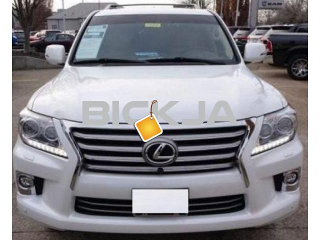 LEXUS LX 570 2015 WHITE COLOR, CLEAN - 1/4