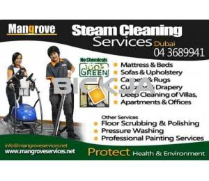 Curtain, Mattress, Upholstery, Carpet Steam Cleaning Services in Dubai