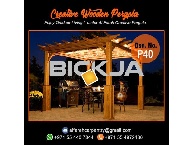 Swimming Pool Wooden Pergola Abu Dhabi | Garden Pergola | Wooden Pergola UAE - 3/4