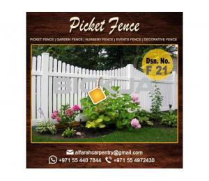 Picket Wooden Fence Abu Dhabi | Garden Fence | Privacy Wooden Fence Dubai