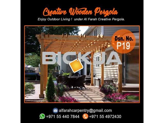 Balcony Attached attached pergola Abu Dhabi | Dubai Pergola Design | Wooden pergola - 2/4