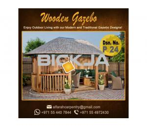 Stone Roof Gazebo Abu Dhabi , Wooden Roof Gazebo , Gazebo Suppliers Dubai