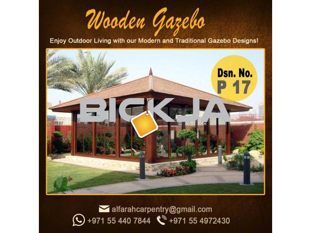 Stone Roof Gazebo Abu Dhabi , Wooden Roof Gazebo , Gazebo Suppliers Dubai - 3/4