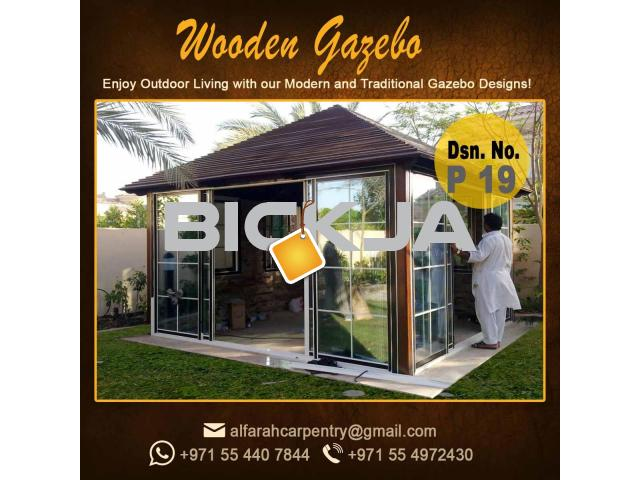Stone Roof Gazebo Abu Dhabi , Wooden Roof Gazebo , Gazebo Suppliers Dubai - 4/4