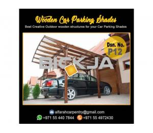 Wooden Car Parking Shade Abu Dhabi| Car Parking Pergola | Wooden Walkway Shades Dubai