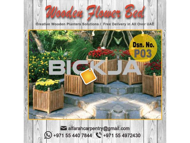 Wooden Planters Manufacturer Dubai | Planers And Pergola  |Wooden trellis And Planters Abu Dhabi - 1/4