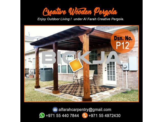 We are the best Wooden Pergola Manufacturer and Supplier in Dubai , Abu Dhabi , Sharjah - 3/4