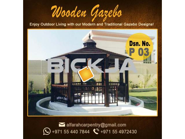 Gazebo in Abu Dhabi |Garden Gazebo| Wooden Roof Gazebo Dubai - 1/4