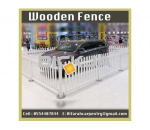 Wooden Fence Dubai | Garden fence | Picket Fence Abu Dhabi