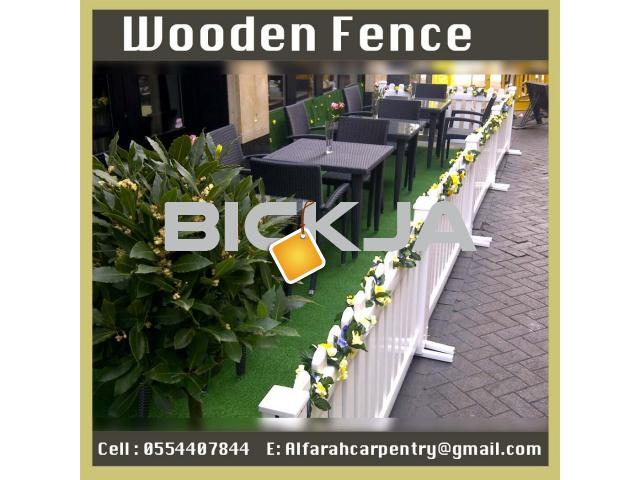 Wooden Fence Dubai | Garden fence | Picket Fence Abu Dhabi - 3/4