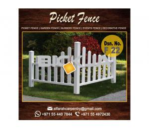 Wooden fence in Jumeirah | Picket Fence UAE | Garden Fence