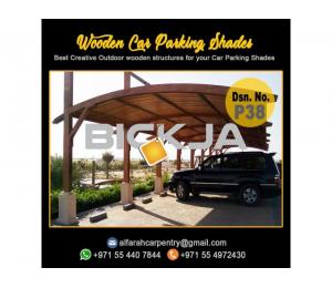 Wooden Parking Shades | Wooden Walkway Shades | Car Parking Pergola Dubai