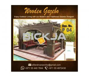 Supply And Install Wooden Gazebo | Gazebo in Abu Dhabi | Creative Gazebo UAE