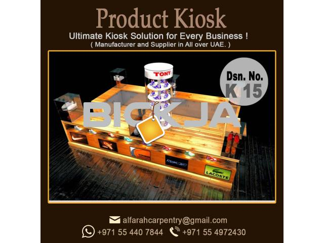 Exhibition kiosk Design | Kiosk Suppliers In Dubai | Wooden kiosk - 2/4