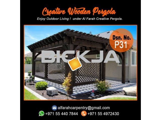 Supply And Install Wooden Pergola | Pergola UAE | Garden Pergola Dubai - 2/4