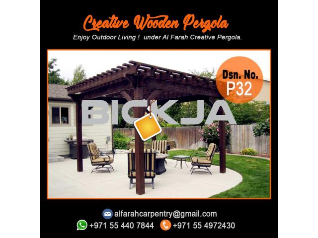 Supply And Install Wooden Pergola | Pergola UAE | Garden Pergola Dubai - 4/4