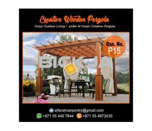 Supply And Install Wooden Pergola | Pergola UAE | Garden Pergola Dubai
