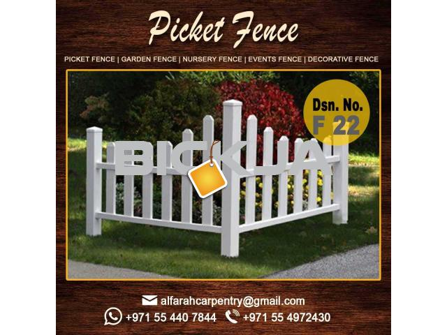 Wooden Picket Fence Dubai | Garden Trellis And Fence | Privacy Wooden Fence Abu Dhabi - 1/4