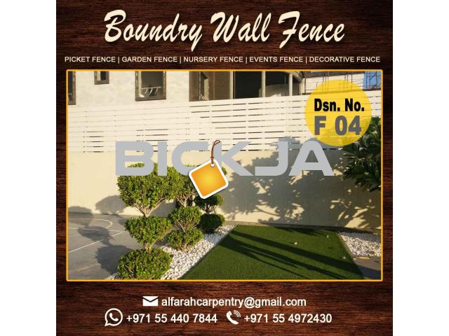 Wooden Picket Fence Dubai | Garden Trellis And Fence | Privacy Wooden Fence Abu Dhabi - 3/4