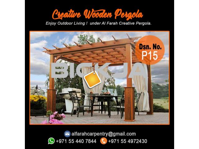 Wooden Pergola Suppliers | Pergola Design in Dubai | Wooden pergola in UAE - 1/4