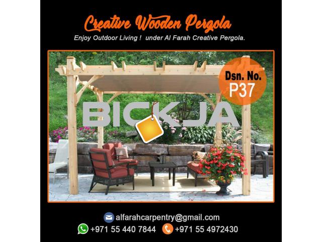 Wooden Pergola Suppliers | Pergola Design in Dubai | Wooden pergola in UAE - 4/4