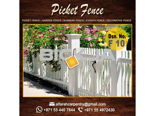 Picket Wooden Fence in Dubai | Privacy Fence | Outdoor Fence Dubai | Garden Fence Dubai - 1/4