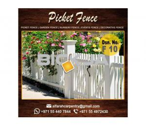 Picket Wooden Fence in Dubai | Privacy Fence | Outdoor Fence Dubai | Garden Fence Dubai