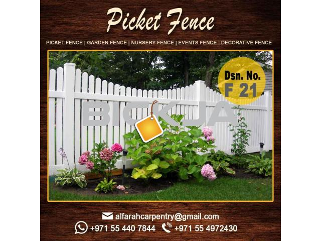 Picket Wooden Fence in Dubai | Privacy Fence | Outdoor Fence Dubai | Garden Fence Dubai - 4/4
