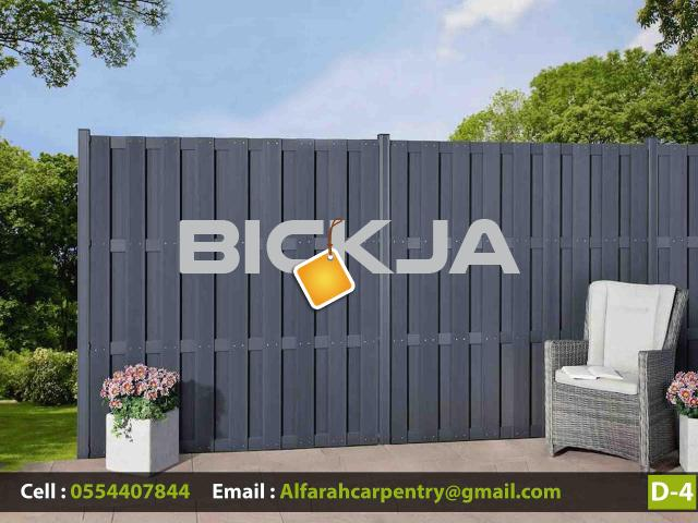Composite Wood Fence Dubai | WPC Wood Fence | Privacy fencing Suppliers Dubai  We Manufacturing WPC - 1/3