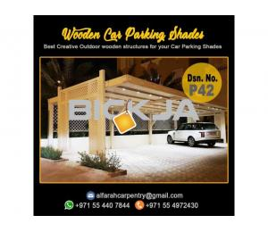 Dubai Wooden Car Parking Shades | Car Parking Pergola Dubai | Car Parking Wooden Shades Dubai