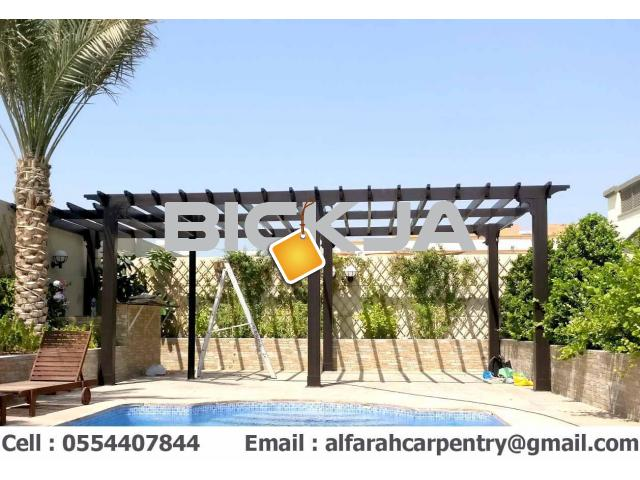 Pergola In Abu Dhabi | Wooden pergola | Pergola Suppliers In Dubai - 3/4