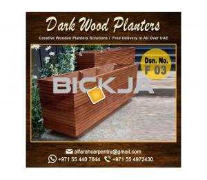 Wooden Planters For Cafe Dubai |Modern Planters For Hotels | Garden Planters Dubai