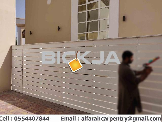 Wall Attached Wooden Fence Dubai | Home Privacy Fence | Garden Fence Dubai - 2/4