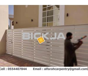Wall Attached Wooden Fence Dubai | Home Privacy Fence | Garden Fence Dubai