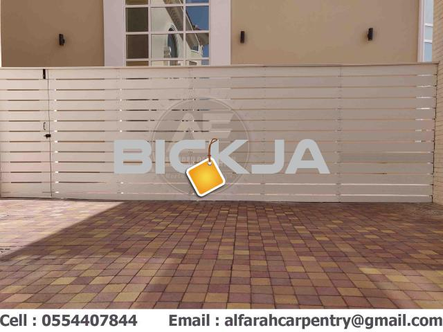 Wall Attached Wooden Fence Dubai | Home Privacy Fence | Garden Fence Dubai - 3/4