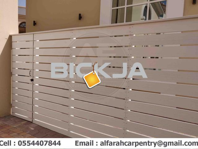 Wall Attached Wooden Fence Dubai | Home Privacy Fence | Garden Fence Dubai - 4/4
