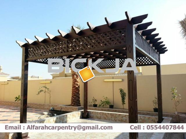 Outdoor Pergola in Dubai | Wooden pergola | Pergola Suppliers Dubai - 1/4