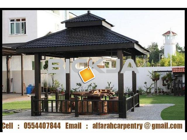 Gazebo in Abu Dhabi | Gazebo Suppliers | Wooden pergola And Gazebo Dubai - 1/4